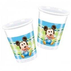 Pack 8 Vasos Mickey Mouse bebé