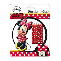 Figura Minnie Mouse + 6 velas