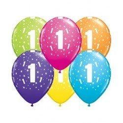 Pack globos Número 1 - Látex