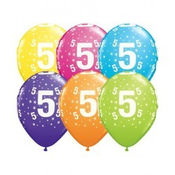 Pack globos Número 5 - Látex