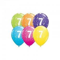 Pack globos Número 7 - Látex