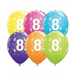 Pack globos Número 8 - Látex