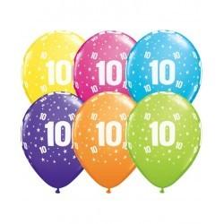 Pack globos Número 10 - Látex