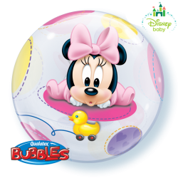 Globo bubble Minnie Bebé