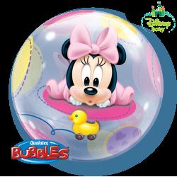 Globo Burbuja Minnie Bebé