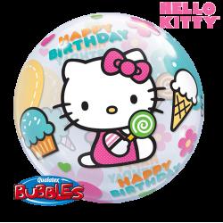 Globo Burbuja Hello Kitty
