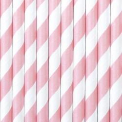 Pajitas de papel - Rosa claro