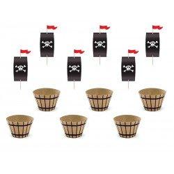 Fiesta pirata - kit Cupcakes