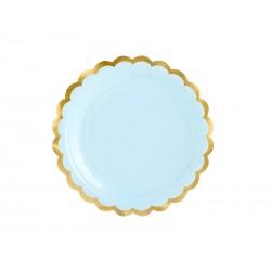 Platos Mint pastel acabado...