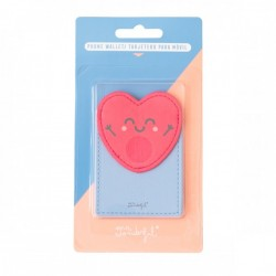 Card Holder Phone - Heart