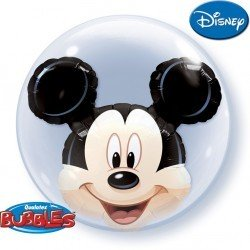 Globo Burbuja Doble - Mickey