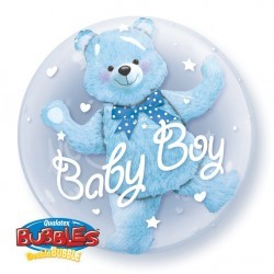 Globo doble bubble Baby Boy...