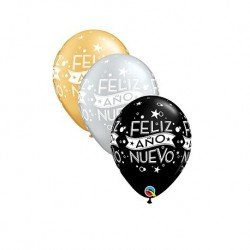 "Globo latex 11"" Feliz Año..."