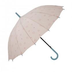 Paraguas grande rosa -...